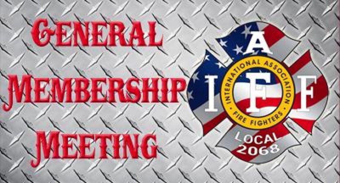January 6 General Membership Meeting