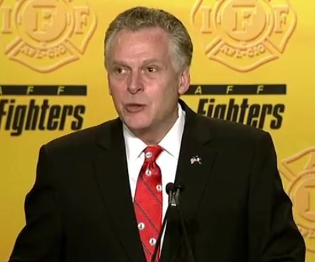 VIDEO: Virginia Governor Terry McAuliffe Speaks at IAFF Conference