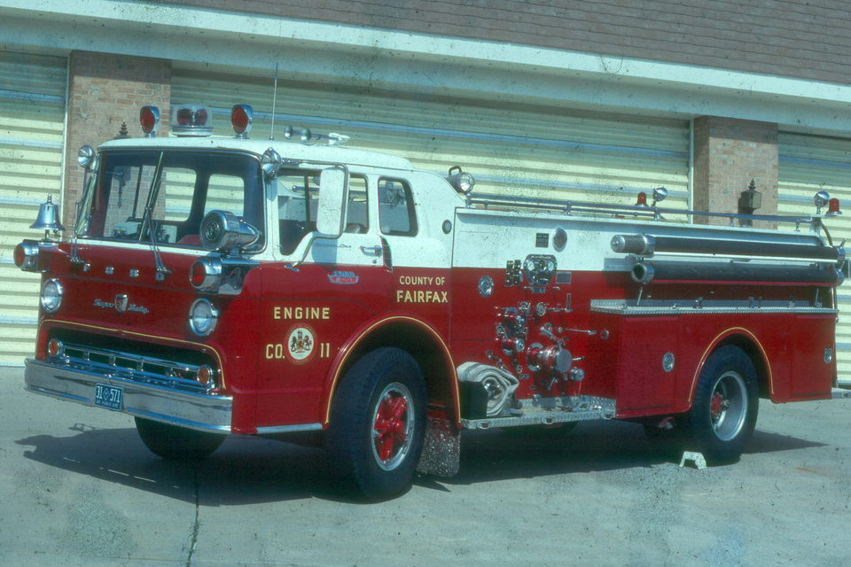 "An old E11 (may have run as eng when FX had a few 2 piece engine companies, Where the first piece w/crew (usually 3) was called a ""wagon"" and the 2nd piece (driver only) was the Engine, i.e., pumper.  Don't recall if Penn Daw ever ran a 2 piece scheme."