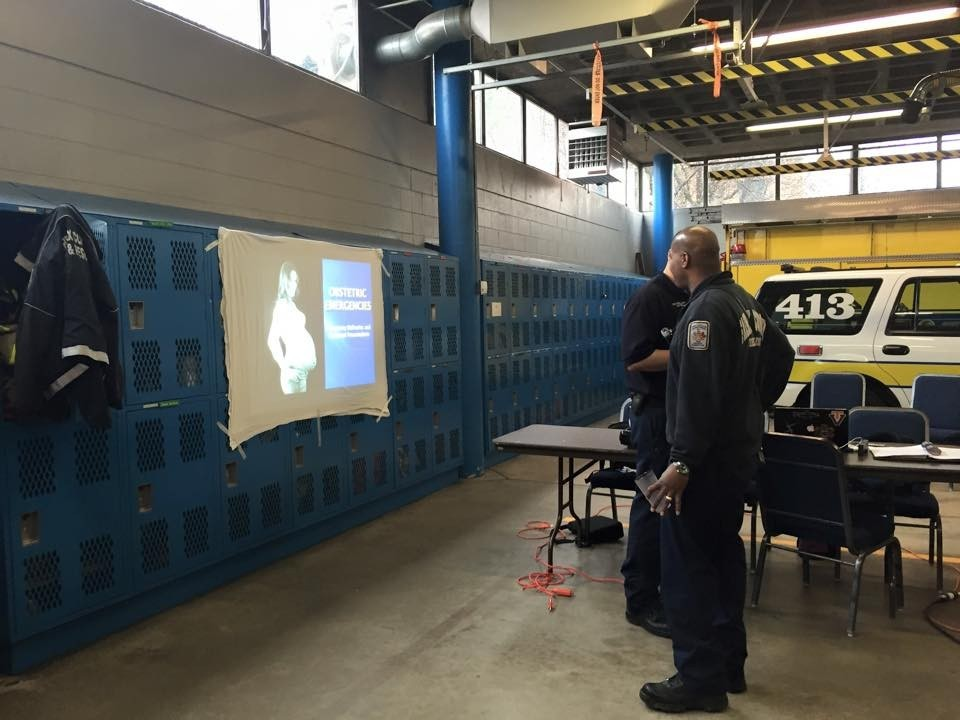 RTR session 2, when the bingo hall turns out be rented EMS training finds a way to keep driving on. (Duane Tenney)