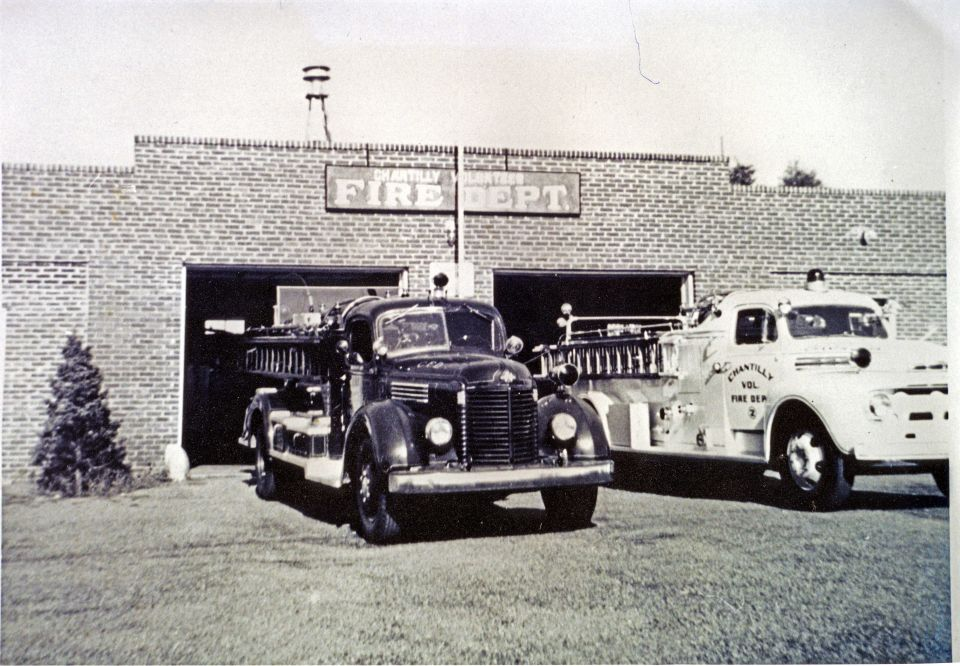 Historical view of the old Chantilly Volunteer Fire Department Company 15.