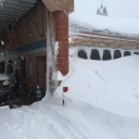 Check out the rear entrance to Fairfax County Fire Station 15 in Chantilly #blizzard2016