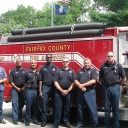 Firefighters from Fire Station 420 at Mason Neck State Park assisting with 9/11 services of remembrance.