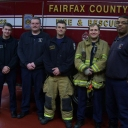These Fairfax County firefighters helped deliver a healthy baby girl on the Capital Beltway early January 2015 morning. (WTOP/Kathy Stewart)