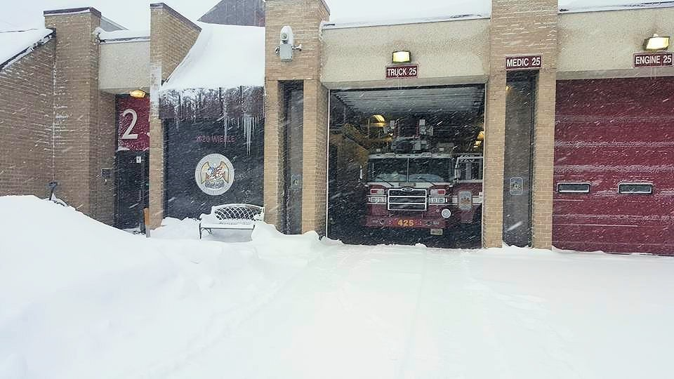 Reston station 25 in Fairfax County ready to serve during the #jonas blizzard of 2016