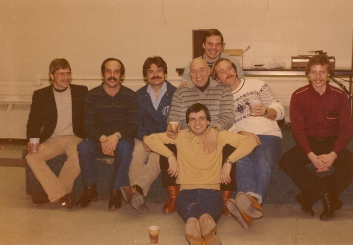 Station 28 shift.  Ferrel McLain, Chuck Jarrell, Wayne Reedy, Bill Spaulding, Cliff Berner, Bill Hayes.  Back- Mike Thacher, Fr- Dennis Michaliga
