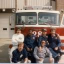 Fairfax County Fire Station 428 Historical Photos (6)<br />A shift,  <br />Lt DiCola, FF W. Anderson, FFII K. Sanders, FF D. Emerson, FF B. Harlowe, FF C. Etheridge, photo by FF A. Gooding(?)