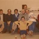 Station 28 shift.  Ferrel McLain, Chuck Jarrell, Wayne Reedy, Bill Spaulding, Cliff Berner, Bill Hayes.  Back- Mike Thacher, Fr- Dennis Michaliga