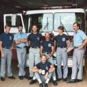 Jim Breslin, Bob Dube, Bill Owensby, Kenny Sanders, Dee Armstrong, John Harris, Jackie Biller (sitting)