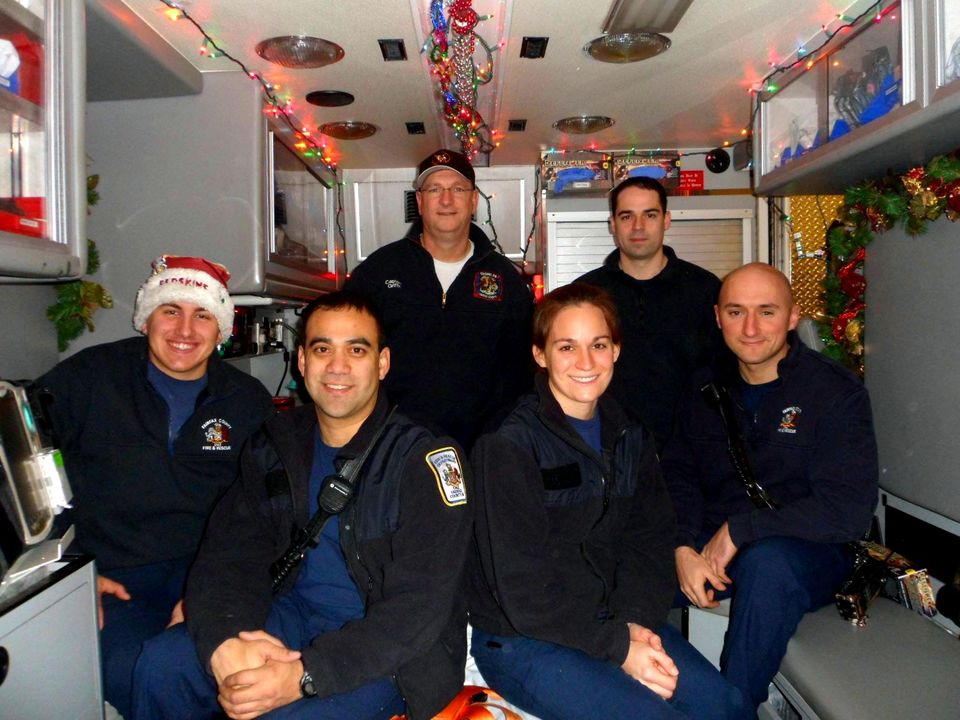 Merry Christmas from some of the folks working today - Fairfax County Fire Station 428 - A Shift (Seven Corners)