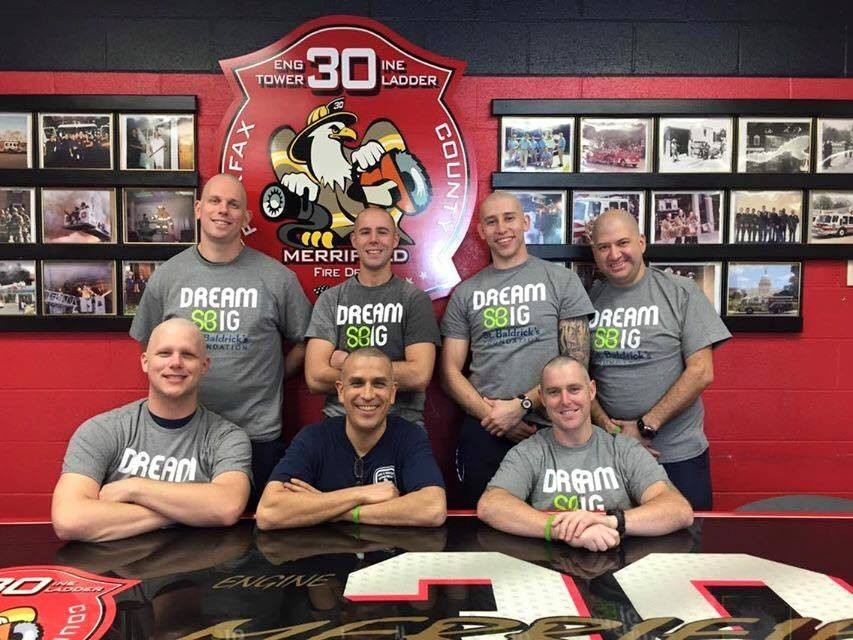 HUGE CONGRATS to the crews at Fire Station 30C in Merrifield who helped in the fight against pediatric cancer via the St. Baldrick's Foundation by shaving their heads! Thanks to all who donated and assisted in the event. BALD IS BEAUTIFUL!