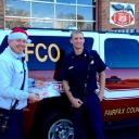Fairfax County Operations Deputy Chief (shift supervisor) spent time between incidents to spread Christmas cheer to all the Fire & Rescue employees working today - Thank you Chief!