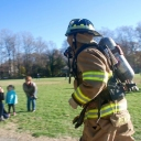 Company 30, Merrifield participated in a a fun run at Marshall Road Elementary School this week.<br />Technician Bryan Selent and Firefighter Colin Remsburg completed the fun run in full gear and Self Contained Breathing Apparatus, SCBA. The students and teachers truly appreciated the department members interaction with the community.