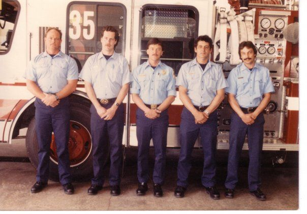 Greg Bunch, Kenny Athing, Dad (Brad Sr.), Tony Spiak, and Jimmy Tolson back in the 80's at FS35.  This was back when it was off Pohick Rd in the middle of nowhere.  Great crew.  I used to show up and ask the old man for money.
