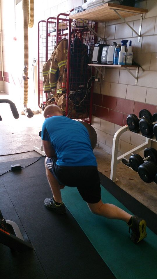 Kyle tebowing after a tough workout lol