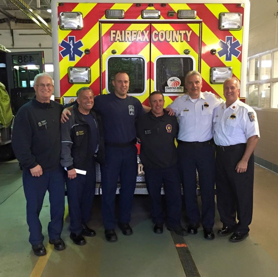 Fire Chief visits with Mike Duffy and Brent Schnupp to shake theirs hands and tell us thanks for a job well done for a once in a career type lifesaving EMS call that they ran last week at 2am, we have a true leader at the helm!!