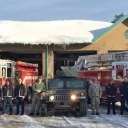 The National Guard with the team at Fairfax County Fire Station 38 in West Centreville - ready to serve you. #blizzard2016