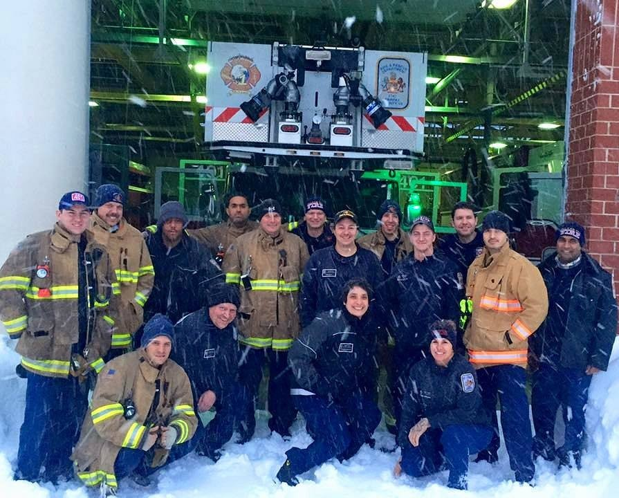 Team photo of your Fairfax County Fire Fighters working at Fire Station 1 in McLean today during the #blizzard2016