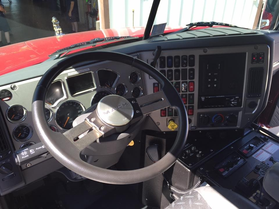 Inside the cab of Tanker 442 - 11/27/15