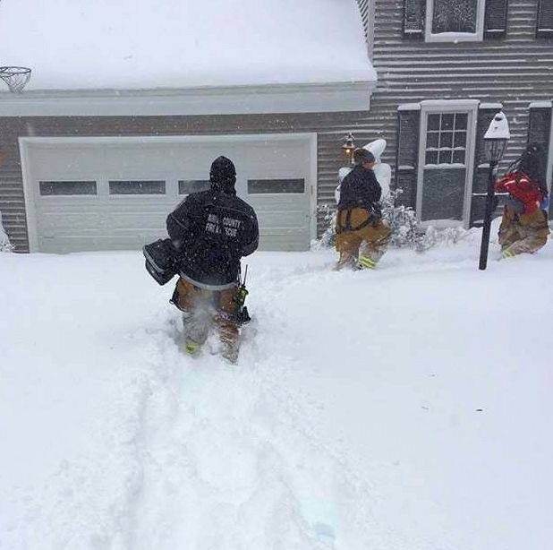 What it's like to respond to a medical emergency in Fairfax County carrying numerous equipment bags through the 24+ inches of snow. #blizzard2016