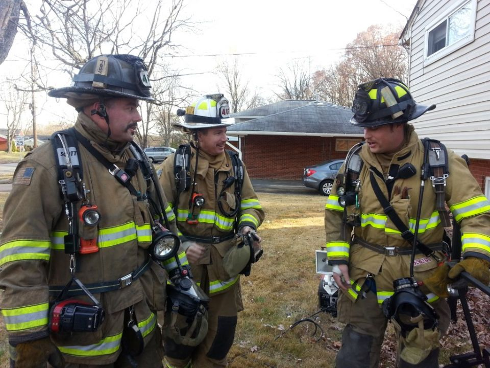 Team members from Fairfax County Fire Station 405 at an incident on Willowood Drive - November 25 2013.