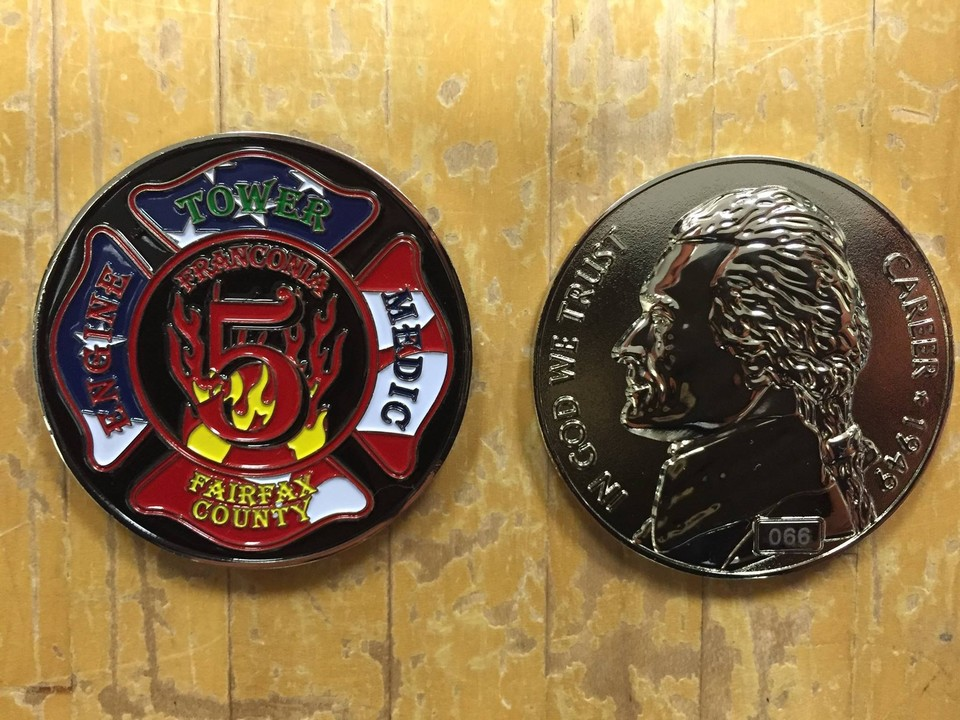 Fire Station 5 Challenge Coin - 2015