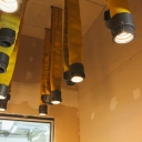 Interesting interior lighting concept for recycled hose ...