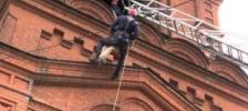 Учения пожарных на Свято-Троицком храме (г. Челябинск)
