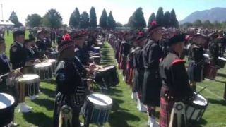 IAFF Firefighters Memorial Pipes and Drums performance