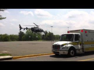 Fairfax County Fire Department medevac using Fairfax 1