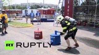 USA: Firefighters compete at World Police and Fire Games 2015
