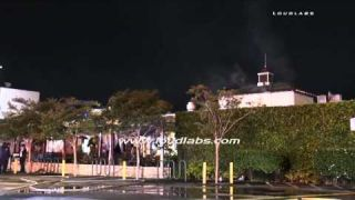 Farmer's Market Restaurant Fire / Fairfax RAW FOOTAGE