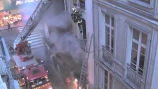 Paris Firemen Rescue Eight Parisians from Fiery Inferno on Rue de la Huchette