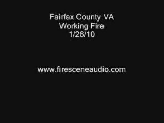 Fairfax County VA Working Fire 1/26/10