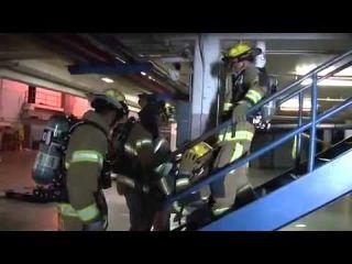 Firefighter Widow Maker - Garage Door LIVE BURN training AVOID THIS CLOSE CALL