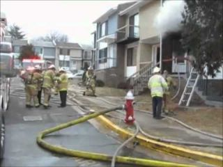 STATter911.com: Two-alarm townhouse fire in Springfield, Virginia injures civilian & 3 firefighters.