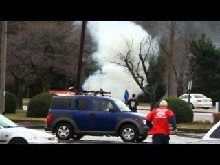 Car on fire un fairfax virginia