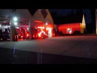 Fairfax County Engine 439 and Medic 439 Responding