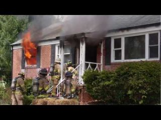 Fairfax County (VA) Fire Training - Deliberately burning a house