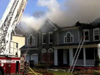 Firefighters Respond to Fairfax Fire