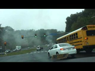 Fire on Fairfax County Parkway