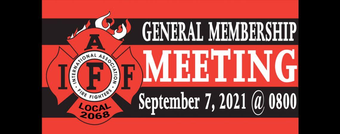 September General Membership Meeting
