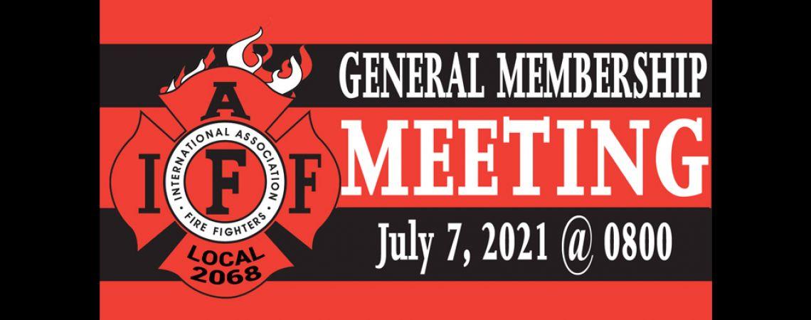 July General Membership Meeting