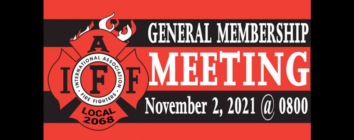 November General Membership Meeting